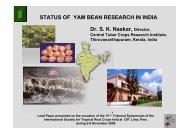 Naskar, S.K; Progress and status of yam bean (Pachyrhizus sp.)