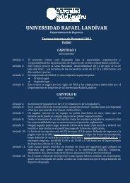 REGLAMENTO FUTBOL - Universidad Rafael Landívar