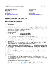 Durchführungsbestimmungen für die Bundesliga 2011/2012