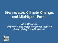 Presentation by Dr. Steinman - MSU Center for Water Sciences