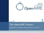 The OpenAIRE Project