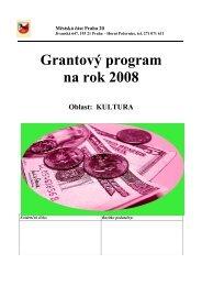 Grantový program na rok 2008 Oblast: KULTURA - Horní Počernice