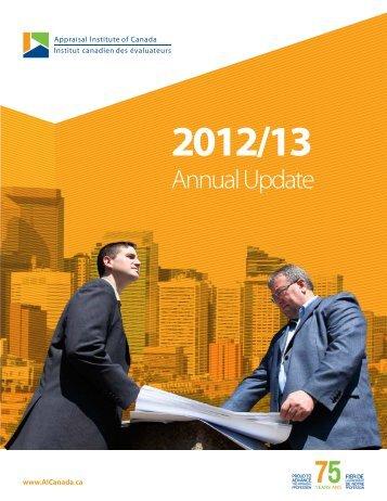 Annual Update (2012-2013) - Appraisal Institute of Canada