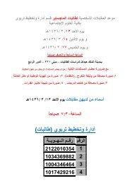 طالبات الماجستير ادارة وتخطيط