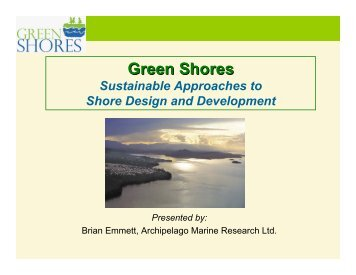 Green Shores: Sustainable Approaches to Shore ... - Waterbucket