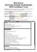 Trust induction booklet - University Hospital Southampton NHS ... - Page 3