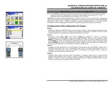 Certificatore LANTEK Fibertek CALIBRAZIONE.pdf