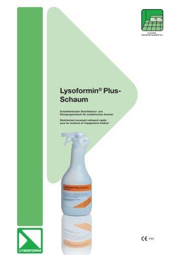 Lysoformin® Plus- Schaum - Lysoform.ch
