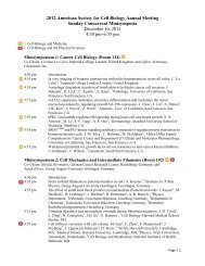 2012 American Society for Cell Biology Annual Meeting ... - the ASCB