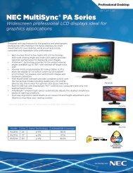 NEC MultiSync PA Series - NEC Display Solutions