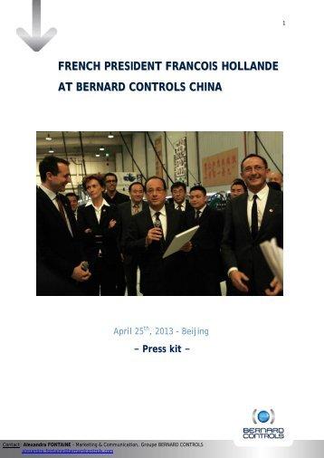 french president francois hollande at bernard controls china