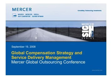 Global Compensation Strategy and Service Delivery Management ...