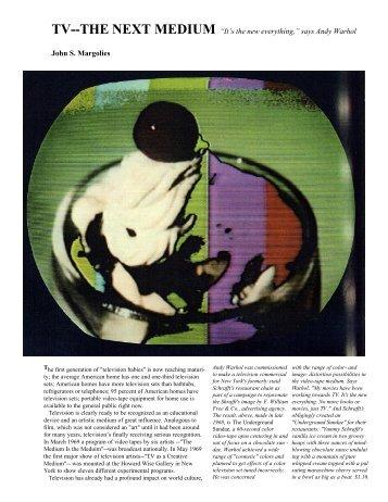 TV--THE NEXT MEDIUM - Electronic Arts Intermix