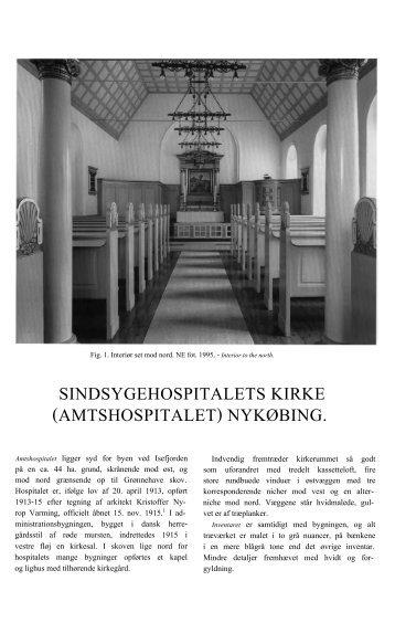 SINDSYGEHOSPITALETS KIRKE ... - Danmarks Kirker