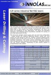 ILR drilling brochure REVC - InnoLas UK ltd