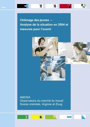 Chômage des jeunes – Analyse de la situation en 2004 et ... - AMOSA