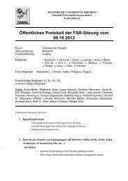 Öffentliches Protokoll der FSR-Sitzung vom 08.10.2012 - phpweb.tu ...