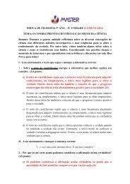 PROVA DE FILOSOFIA 9º ANO – IV UNIDADE (COMENTADA ...