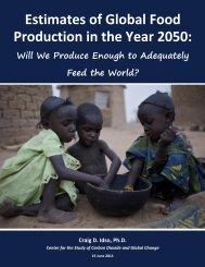 Estimates of Global Food Production in the Year 2050: - CO2 Science