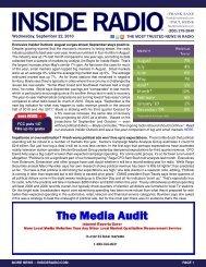 news INSIDE >> Wednesday, September 22, 2010