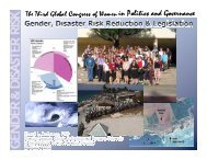 Gender, Disaster Risk Reduction and Legislation, by Dr - CAPWIP