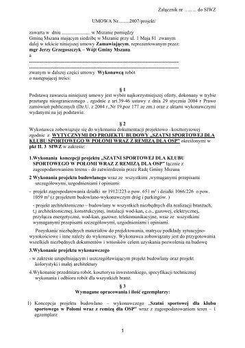 Umowa -Projekt Szatnia II