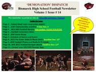 'DEMONATION' DISPATCH Bismarck High School Football ...