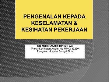 Pengenalan : Keselamatan & Kesihatan Pekerjaan Staf HSS