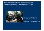 Abkommensrechtliche Behandlung von Sondervergütungen im ...