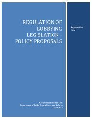 Summary Policy Proposals - Department of Public Expenditure and ...