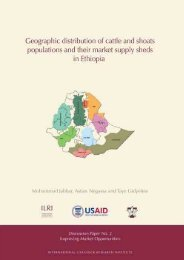Geographic distribution of cattle and shoats - International Livestock ...