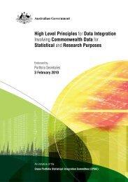 High Level Principles for Data Integration Involving Commonwealth ...