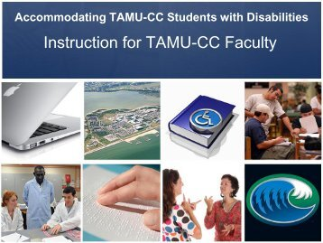 Instruction for TAMU-CC Faculty - Disability Services - Texas A&M ...