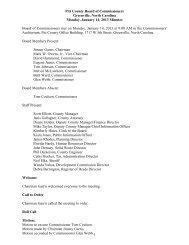 January 14 (Regular Meeting ) - Pitt County Government
