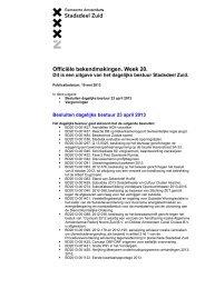 Officiële bekendmakingen 10 mei 2013 - Stadsdeel Zuid ...