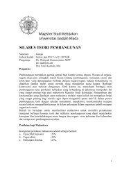 Silabus Teori Pembangunan.pdf - Kumoro.staff.ugm.ac.id