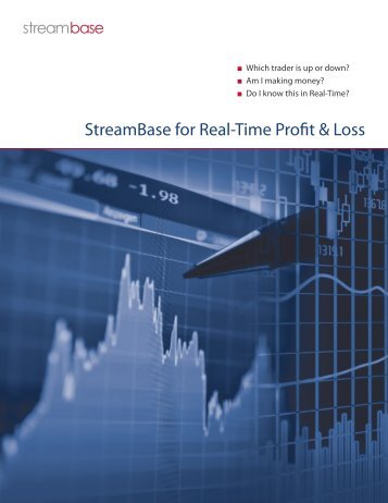 StreamBase for Real-Time Profit & Loss