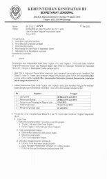 surat pemberitahuan ujian dinas tingkat i dan ii ... - Ropeg Kemenkes