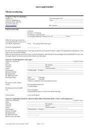 Aanvraagformulier Motorverzekering - SLIMcms