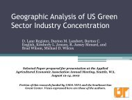 Geographic Analysis of US Green Sector Industry Concentration