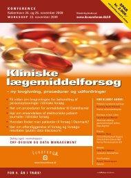 Kliniske lægemiddelforsøg - IBC Euroforum