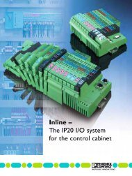 Inline – The IP20 I/O system for the control cabinet - Phoenix Contact