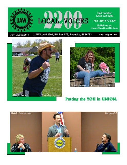 July - Aug 2013 - UAW Local 2209