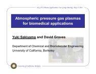 Atmospheric pressure gas plasmas for biomedical applications