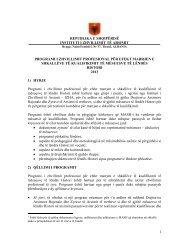 Histori-Prog-Kualifikimi-2013 - Instituti i Zhvillimit te Arsimit