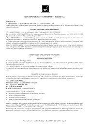 NOTA INFORMATIVA PRODOTTI MALATTIA - AXA Assicurazioni