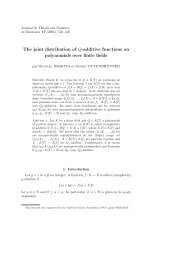 The joint distribution of Q-additive functions on polynomials ... - EMIS