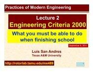 Engineering Criteria 2000 - Texas A&M University