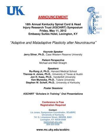 18th Annual KSCHIRT Symposium 2012 PDF - University of Kentucky