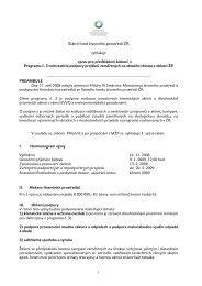 Přílohy III - vyhlášení programu 3 - Státní fond životního prostředí